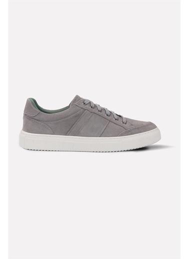 Krähe Zax Gri Süet Minimal Sneaker Gri